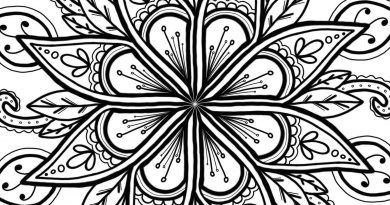 Image is of a flower mandala colouring in page.