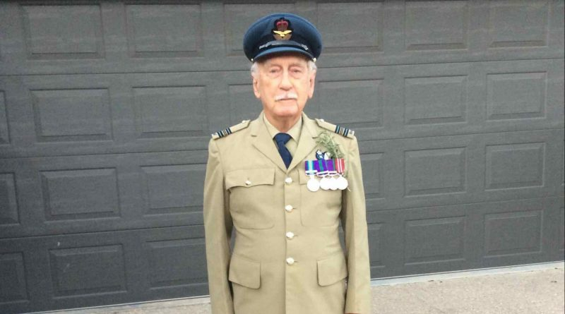 Image is of Alan Greig wearing the ADF uniform he wore 46 years ago during service.